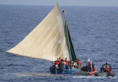 Haitian Illegal Immigrant Craft: Photo credit USCG