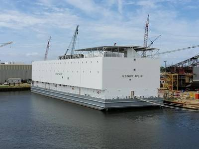 Halter Marine will soon deliver the first two berthing barges to the U.S. Navy. Photo courtesy of VT Halter Marine, Inc.