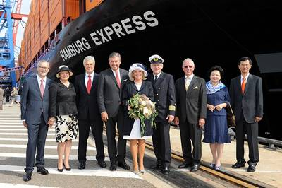 Hamburg Express Ceremony: Photo credit Hapag Lloyd