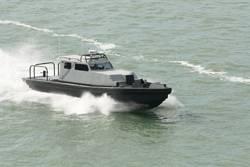Hann 40 Peacemaker, a fast patrol boat.