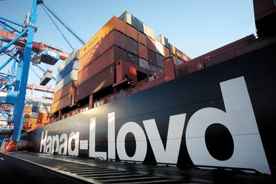 Hapag Lloyd has chosen to fit Cargotec's MacGregor C8A fully-automatic twistlocks on its new series of ten 13,200 TEU container vessels (Picture: Hapag-Lloyd)