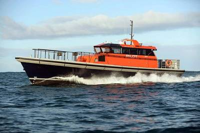 Harbour Services Australia has taken delivery of a Berkeley Class pilot boat from Dongara Marine as the second such vessel to operate in the Western Australian port of Fremantle. (Photo: Dongara Marine)