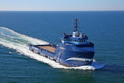 Harvey Energy is America's first tri-fueled vessel utilizing three fuel sources: diesel, LNG and electric battery power (Photo: Harvey Gulf)