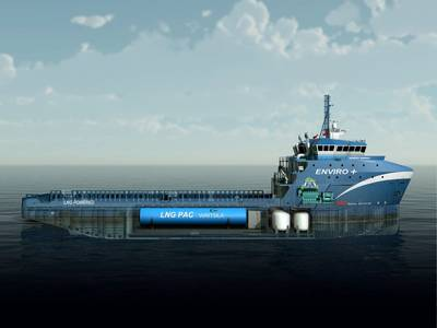 Harvey Gulf LNG fueled OSV: Photo Wärtsilä
