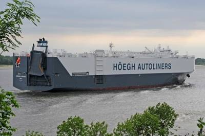 Höegh Autoliners' Vessel: Photo courtesy of Höegh