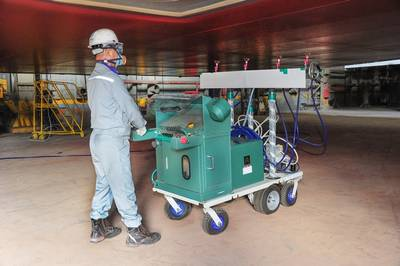 HHI's Automatic Painting Spray Head