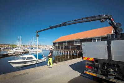 HIAB X-HiPro 232 offers highest efficiency in the 20-tonne-metre range Photo HIAB