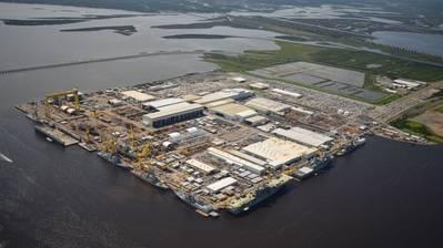HII's Ingalls Shipbuilding division in Pascagoula, Miss., in June 2017 (Photo: Lance Davis/HII)