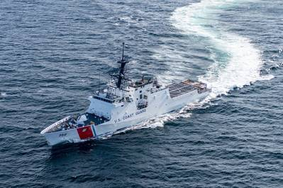Ingalls Shipbuilding completed acceptance trials for the U.S. Coast Guard's ninth National Security Cutter, Stone (WMSL 758). (Photo: Lance Davis / HII)