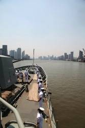 HMAS Ballarat in Yangtze Estuary: Photo credit RAN