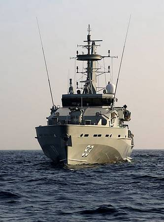 HMAS Childers at sea in the Indian Ocean. Photo: LSIS Jo Dilorenzo
