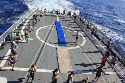 HMAS Darwin: Photo credit Australian Navy