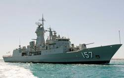 HMAS Perth: Photo credit RAN