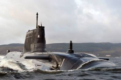 HMS Astute: Photo credit MOD