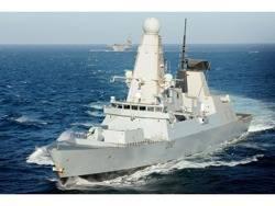 HMS Daring: Photo credit UK MOD