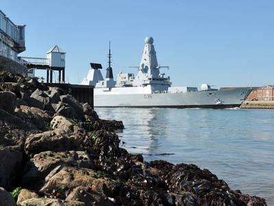 HMS Defender: Photo credit UK MOD
