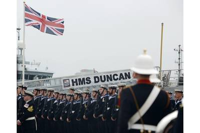 HMS Duncan commissioning: Photo courtesy of MOD
