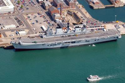 HMS Illustrious: Photo courtesy of MOD