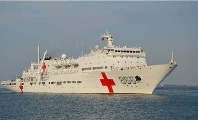 Hospital Ship 'Peace Ark': Photo credit Wiki CCL