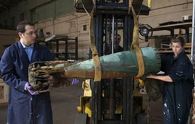 Howell Torpedo Received: Photo credit Navy NHHC