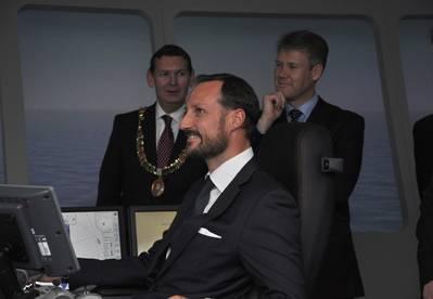 HRH Crown Prince Haakon of Norway: Photo credit Rolls-Royce
