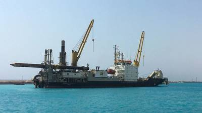 Huta Marine's cutter suction dredger Huta 14 has resumed operations following a two-year overhaul (Photo: Royal IHC)