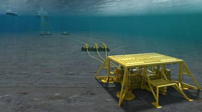 Hyme field with a subsea template tied in to existing infrastructure on the Njord A platform: Image credit Statoil