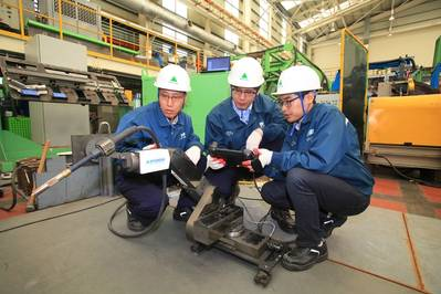 Hyundai Heavy's Mini Welding Robot