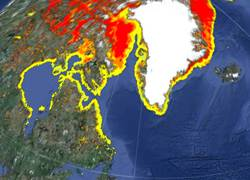 Ice concentrations shown in GlobalView 2.0.