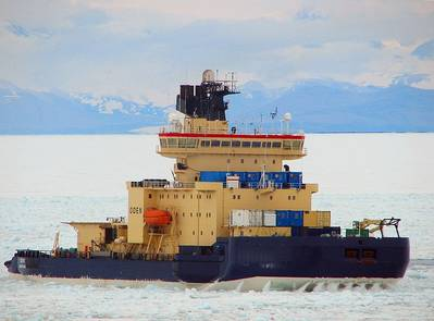 Icebreaker Oden: Photo credit USN