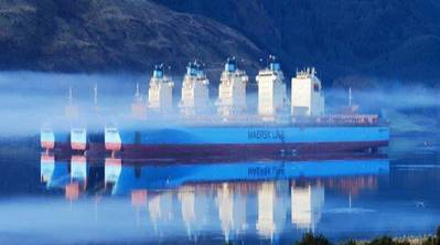 Idle Maersk Container Ships: Image credit Maersk Line