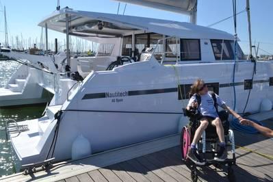 If she is successful, Natasha Lambert will be the first quadriplegic female skipper to cross the Atlantic using breath control. Image courtesy Natasha Lambert.