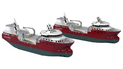Illustration of Nordlaks two new live fish carriers (Photo: NSK Ship Design)