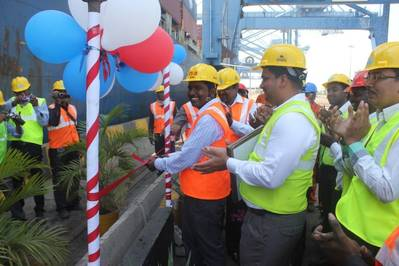 Inauguration around Vessel M.V. Tiger Bridge