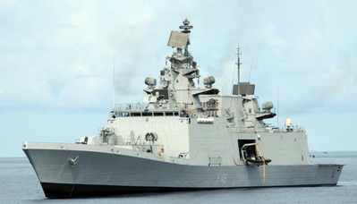Indian Navy P17 frigate (Photo courtesy of GE Marine)