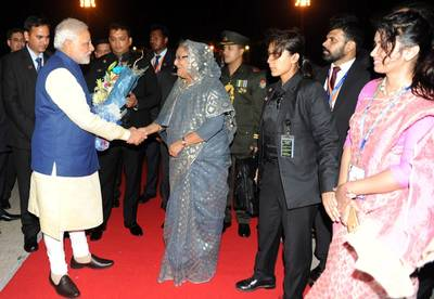 Indian Prime Minister, Narendra Modi and Bangladesh PM Sheikh Hasina. Photo: Press Information Bureau