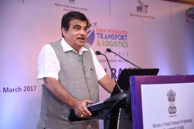 Indian Shipping Minister Nitin Gadkari. Photo: Official FB Page