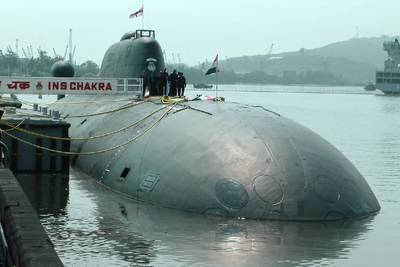 INS Chakra, India's only operating nuclear-powered submarine. Photo: Indian Navy
