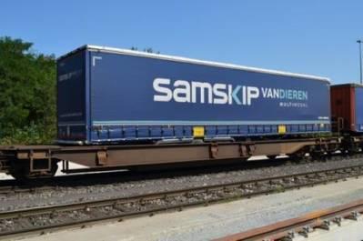 Intermodal Transport: Photo courtesy of Samskip Van Dieren Multimodal