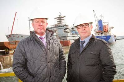 IPS directors Paul Smith & Peter Hillan at Cammell Laird
