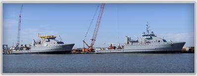 Iraq Navy OSV1 & 2: Photo credit RiverHawk Fast Sea Frames