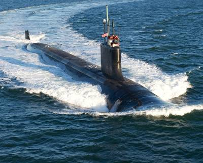 Virginia-class 'USS California': Photo credit USN