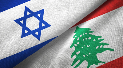Israel and Lebanon Flags - Credit;Oleksii