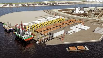 Artist's impression of Sif-Verbrugge Terminal MV2 (Image: Port of Rotterdam Authority)