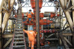 ITS changing out BOP (blow out preventer) rams in Mexico (Photo courtesy Fifth Ring Integrated Corporate Communications)