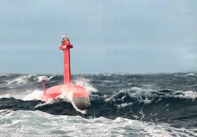 iXblue DriX USV collecting data at Sea State 5 off the coast of La Ciotat, Mediterranean, Image courtesy iXblue.