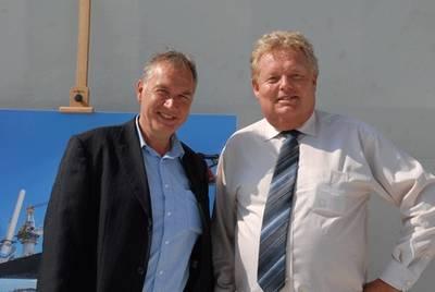 Jack-Up Barge Commercial Director Maarten Hardon (left) with Managing Director Ronald Schukking.