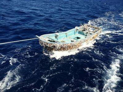Japanese Skiff: Photo credit NOAA