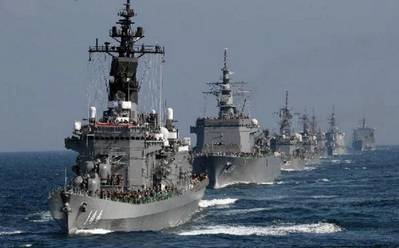 Japan's Maritime Self-Defense Force (MSDF) ships. Photo: Japan Navy