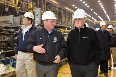 Jeffrey S. Geiger (Center) Photo courtesy of BIW